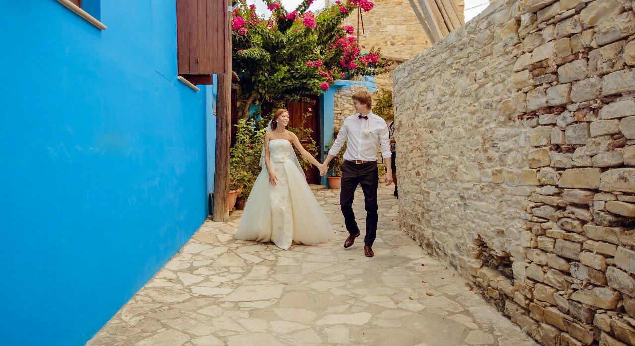 фотография символической свадьбы на Кипре